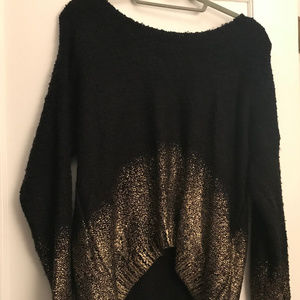 Bar III Black and Gold Ombre Sweater